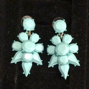 Opaque turquoise dangle earrings